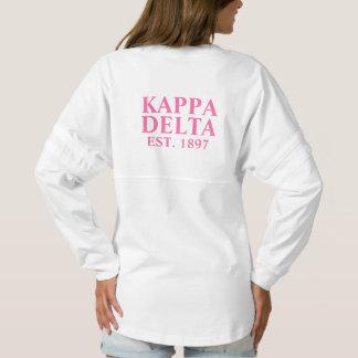 Kappa Delta Pink Letters Spirit Jersey