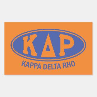 Kappa Delta Rho | Vintage Rectangular Sticker