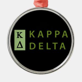 Kappa Delta Stacked Christmas Ornament