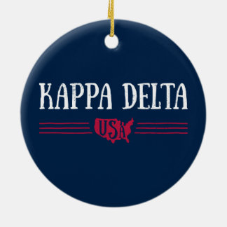 Kappa Delta USA Christmas Ornament