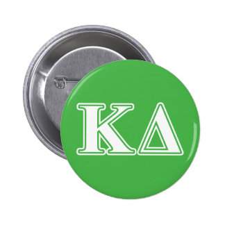 Kappa Delta White Letters 6 Cm Round Badge