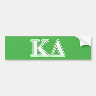 Kappa Delta White Letters Bumper Sticker