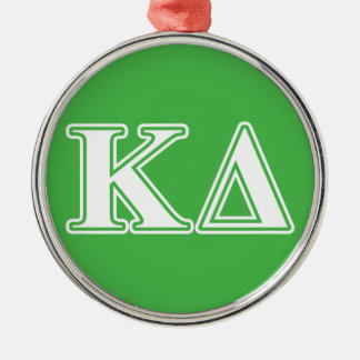 Kappa Delta White Letters Christmas Ornament