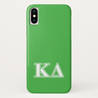 Kappa Delta White Letters iPhone X Case