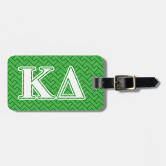 Kappa Delta White Letters Luggage Tag