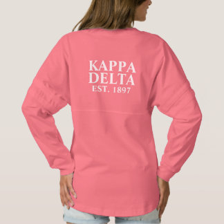 Kappa Delta White Letters Spirit Jersey