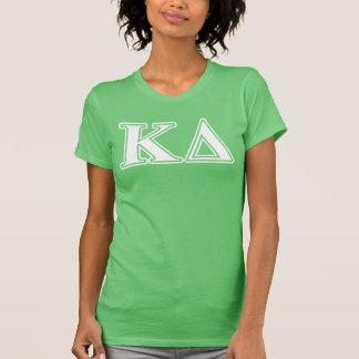 Kappa Delta White Letters T-Shirt