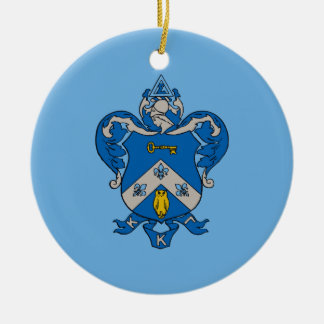 Kappa Kappa Gama Coat of Arms Christmas Ornament
