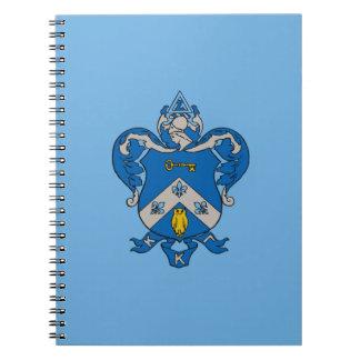 Kappa Kappa Gama Coat of Arms Spiral Notebook