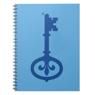 Kappa Kappa Gama Key Symbol Spiral Notebook
