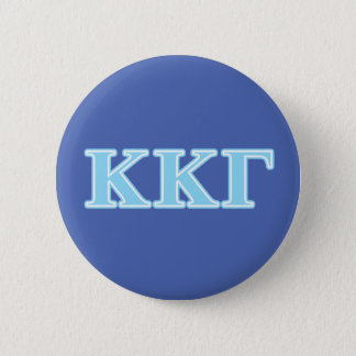 Kappa Kappa Gamma Baby Blue Letters 6 Cm Round Badge
