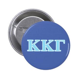 Kappa Kappa Gamma Baby Blue Letters 6 Cm Round Badge