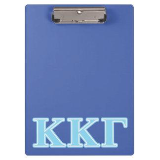 Kappa Kappa Gamma Baby Blue Letters Clipboard