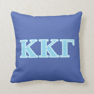 Kappa Kappa Gamma Baby Blue Letters Cushion