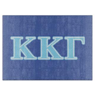 Kappa Kappa Gamma Baby Blue Letters Cutting Board