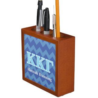 Kappa Kappa Gamma Baby Blue Letters Desk Organiser