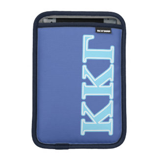 Kappa Kappa Gamma Baby Blue Letters iPad Mini Sleeve