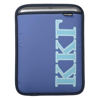Kappa Kappa Gamma Baby Blue Letters iPad Sleeve