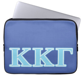 Kappa Kappa Gamma Baby Blue Letters Laptop Sleeve