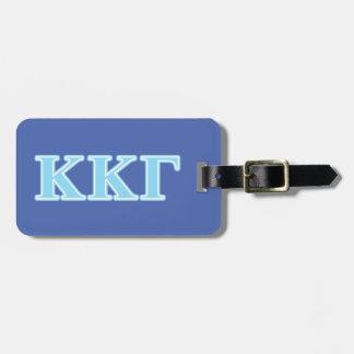 Kappa Kappa Gamma Baby Blue Letters Luggage Tag