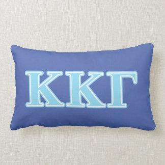 Kappa Kappa Gamma Baby Blue Letters Lumbar Cushion
