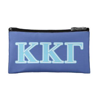Kappa Kappa Gamma Baby Blue Letters Makeup Bag