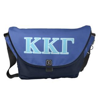 Kappa Kappa Gamma Baby Blue Letters Messenger Bags