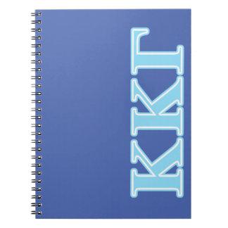 Kappa Kappa Gamma Baby Blue Letters Notebook