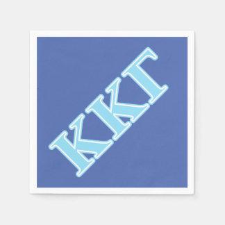 Kappa Kappa Gamma Baby Blue Letters Paper Serviettes