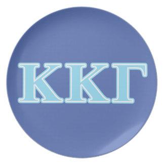 Kappa Kappa Gamma Baby Blue Letters Plate