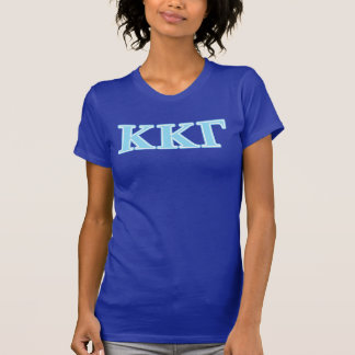 Kappa Kappa Gamma Baby Blue Letters T-Shirt