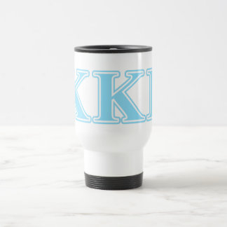 Kappa Kappa Gamma Baby Blue Letters Travel Mug