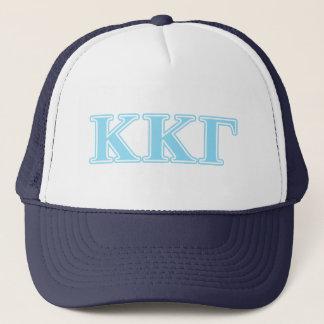 Kappa Kappa Gamma Baby Blue Letters Trucker Hat