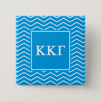 Kappa Kappa Gamma | Chevron Pattern 15 Cm Square Badge