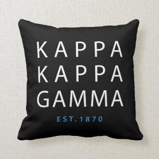 Kappa Kappa Gamma | Est. 1870 Cushion