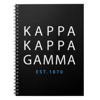 Kappa Kappa Gamma | Est. 1870 Notebook