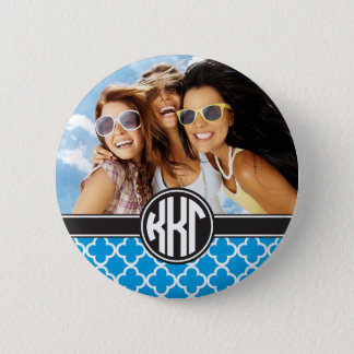 Kappa Kappa Gamma | Monogram and Photo 6 Cm Round Badge