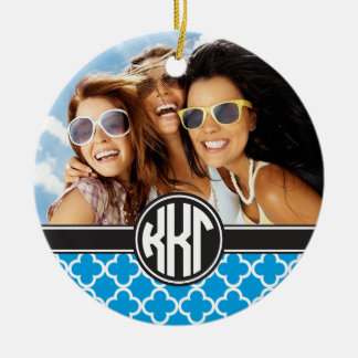 Kappa Kappa Gamma | Monogram and Photo Christmas Ornament