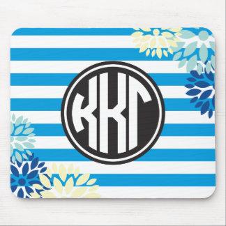 Kappa Kappa Gamma | Monogram Stripe Pattern Mouse Mat