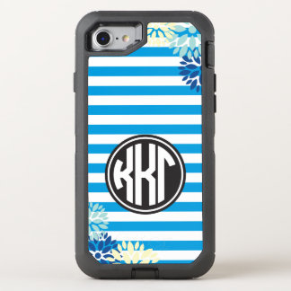 Kappa Kappa Gamma   Monogram Stripe Pattern OtterBox Defender iPhone 7 Case