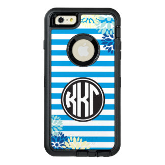 Kappa Kappa Gamma | Monogram Stripe Pattern OtterBox Defender iPhone Case