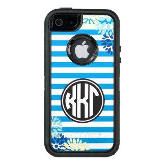 Kappa Kappa Gamma   Monogram Stripe Pattern OtterBox iPhone 5/5s/SE Case