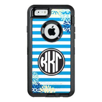 Kappa Kappa Gamma   Monogram Stripe Pattern OtterBox iPhone 6/6s Case