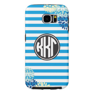 Kappa Kappa Gamma | Monogram Stripe Pattern Samsung Galaxy S6 Cases