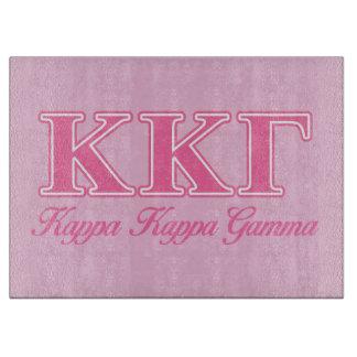 Kappa Kappa Gamma Pink Letters Cutting Board