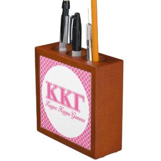Kappa Kappa Gamma Pink Letters Desk Organiser
