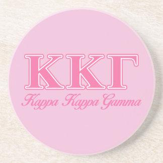 Kappa Kappa Gamma Pink Letters Drink Coasters