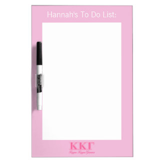 Kappa Kappa Gamma Pink Letters Dry Erase Board