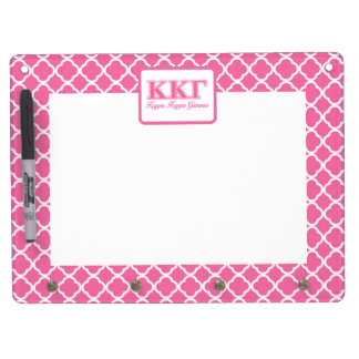 Kappa Kappa Gamma Pink Letters Dry Erase Board With Key Ring Holder