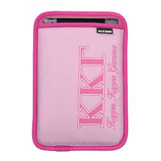 Kappa Kappa Gamma Pink Letters iPad Mini Sleeve